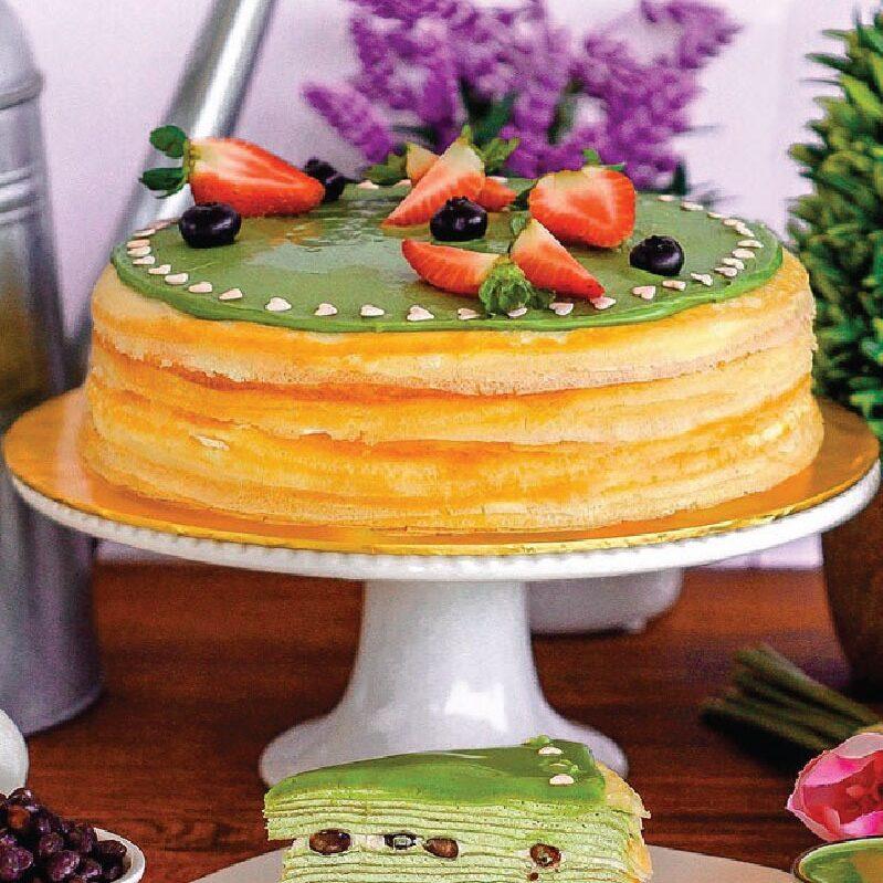 Green Tea Mille Crepe Cake e1593061316106