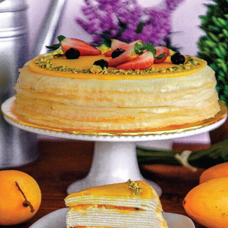 Mango Passion Crepe Cake e1593060958815