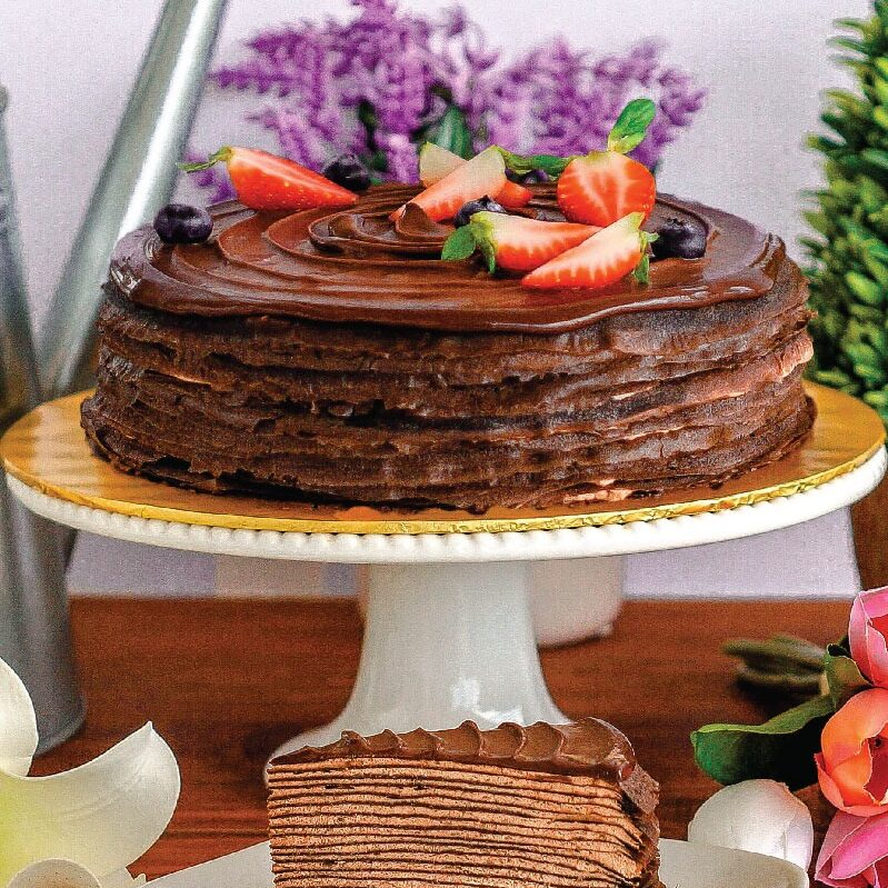 Triple Chocolate Crepe Cake e1593061059766