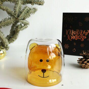 Bear Glass Brown 1