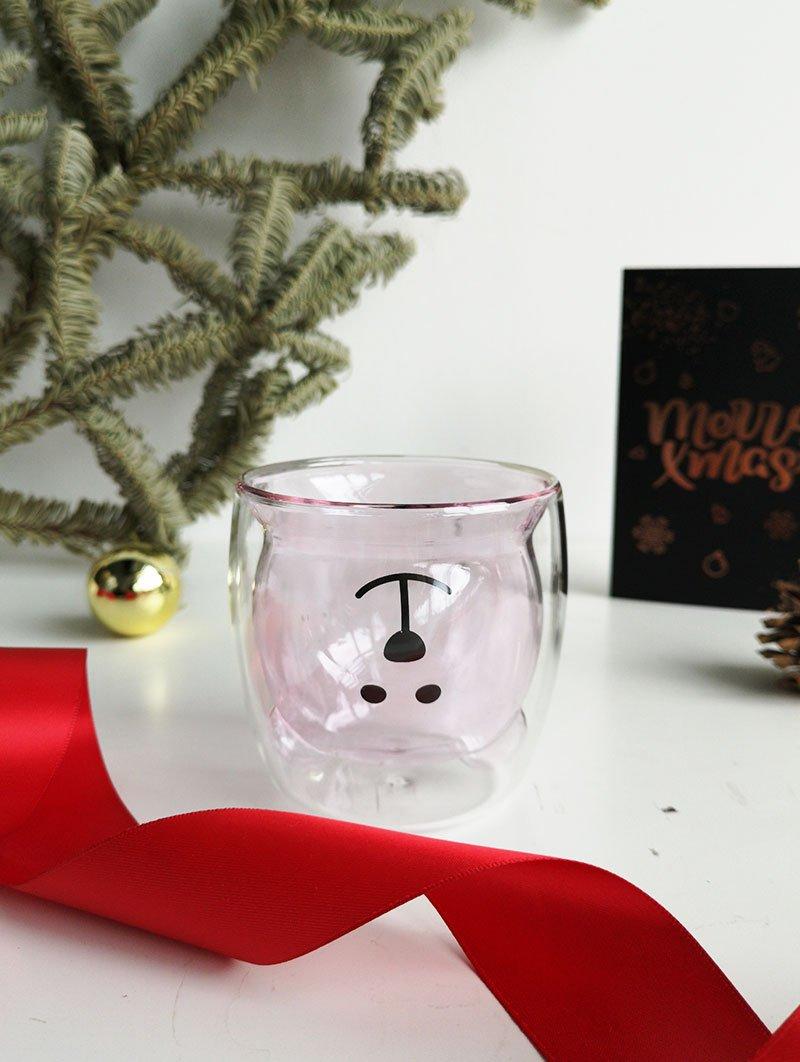Bear Glass Pink 2