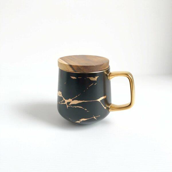 Classy Marbled Mug (black)