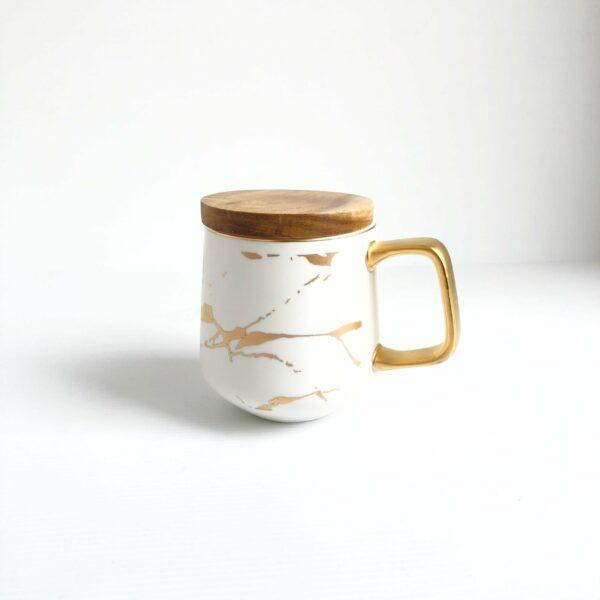 Classy Marbled Mug (white)