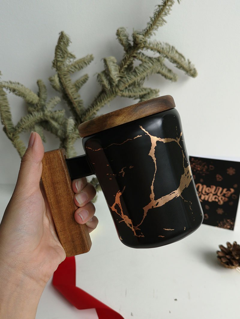 Marble black mug 1