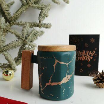 Marble green mug 2