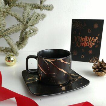 Tea Cup Plate Black 2 e1586455771629