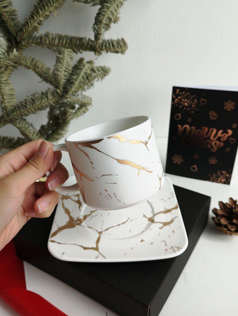 Tea Cup Plate white 1