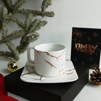 Tea Cup Plate white 2