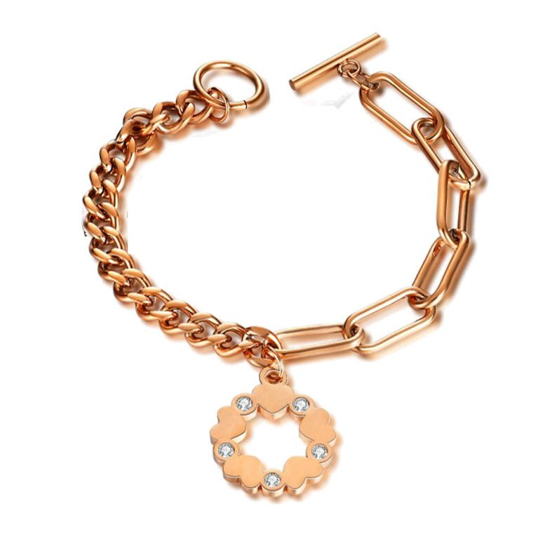 Venus CZ Wreath of Love Bracelet