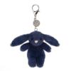 Bashful Navy Bunny Bag Charm 1