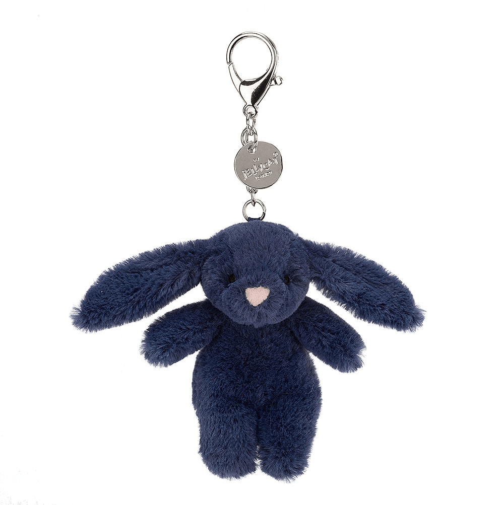 Bashful Navy Bunny Bag Charm 1