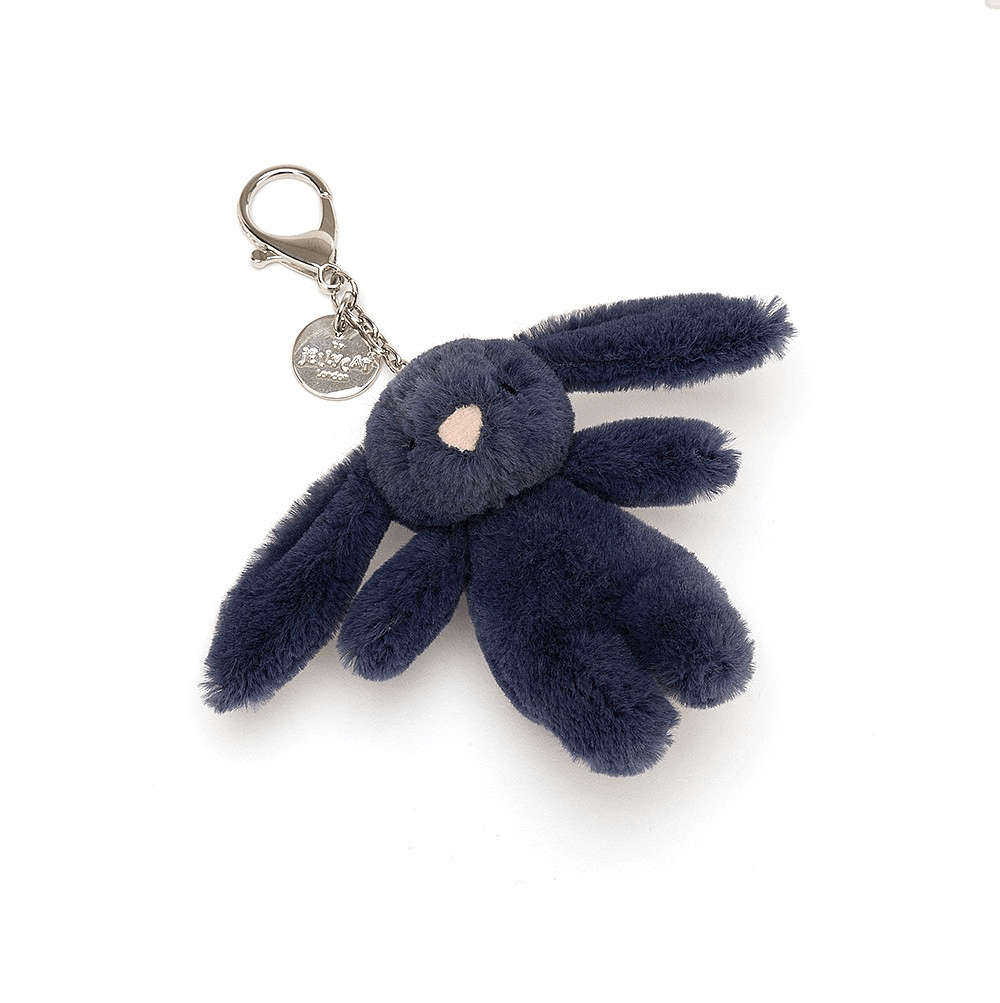 Bashful Navy Bunny Bag Charm 2