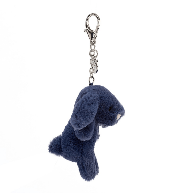 Bashful Navy Bunny Bag Charm 3