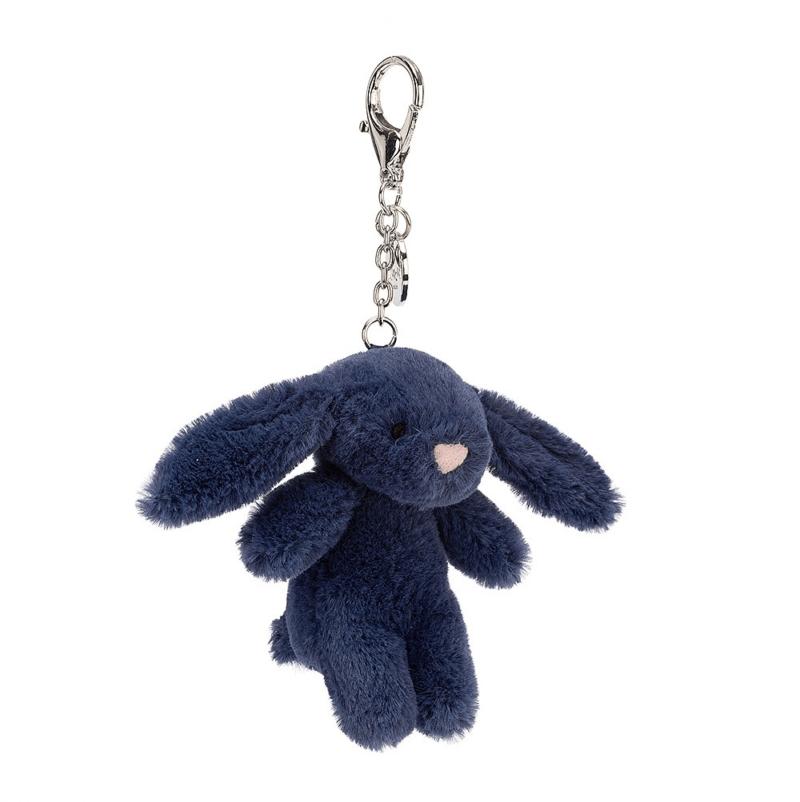 Bashful Navy Bunny Bag Charm 4