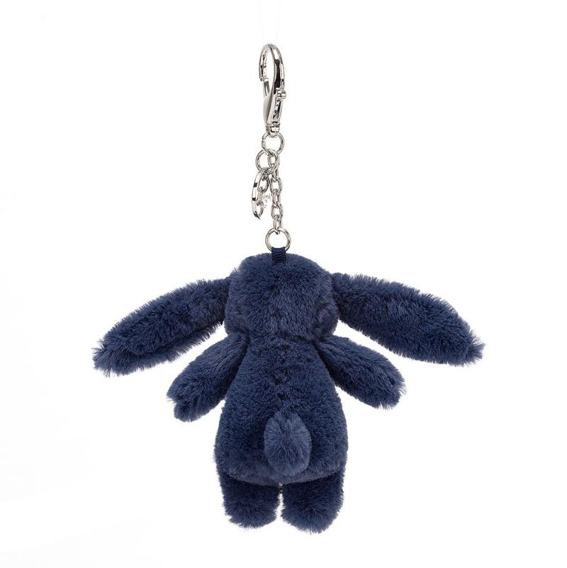 Bashful Navy Bunny Bag Charm 5