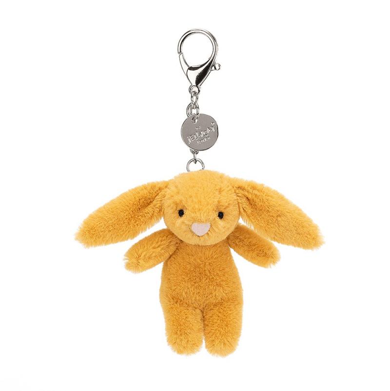 Bashful Saffron Bunny Bag Charm 1