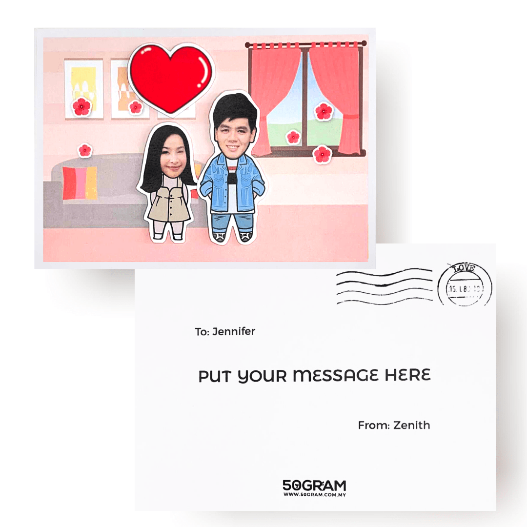 Cartoon Head Gift Card