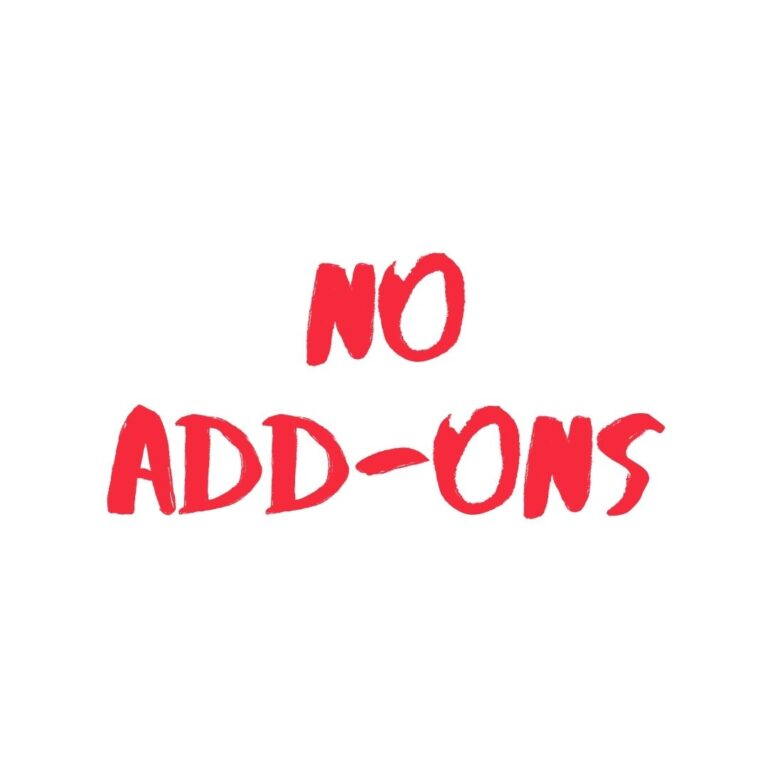 No Add-Ons
