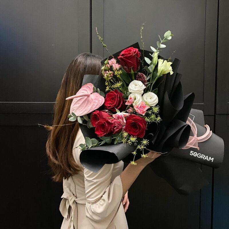 Dark Scarlet Bouquet Ads 1