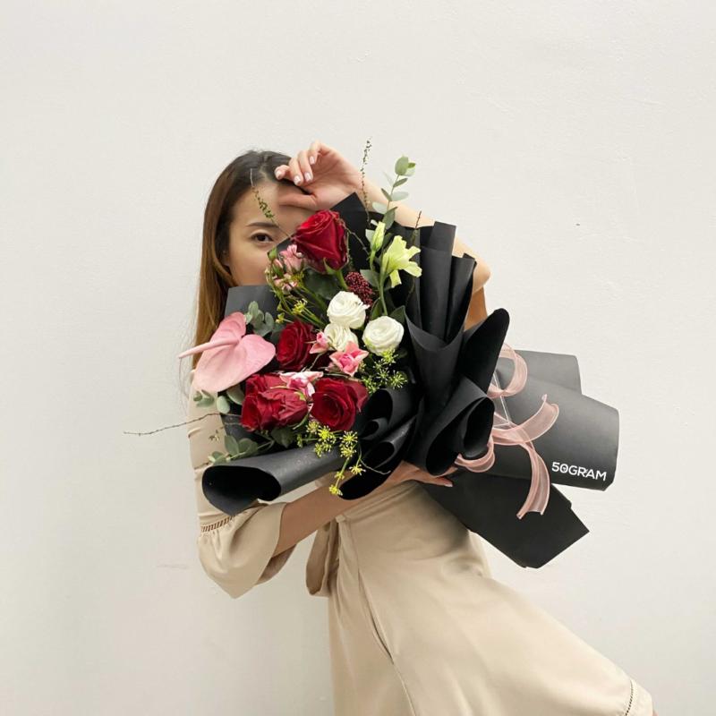 Dark Scarlet Bouquet Ads