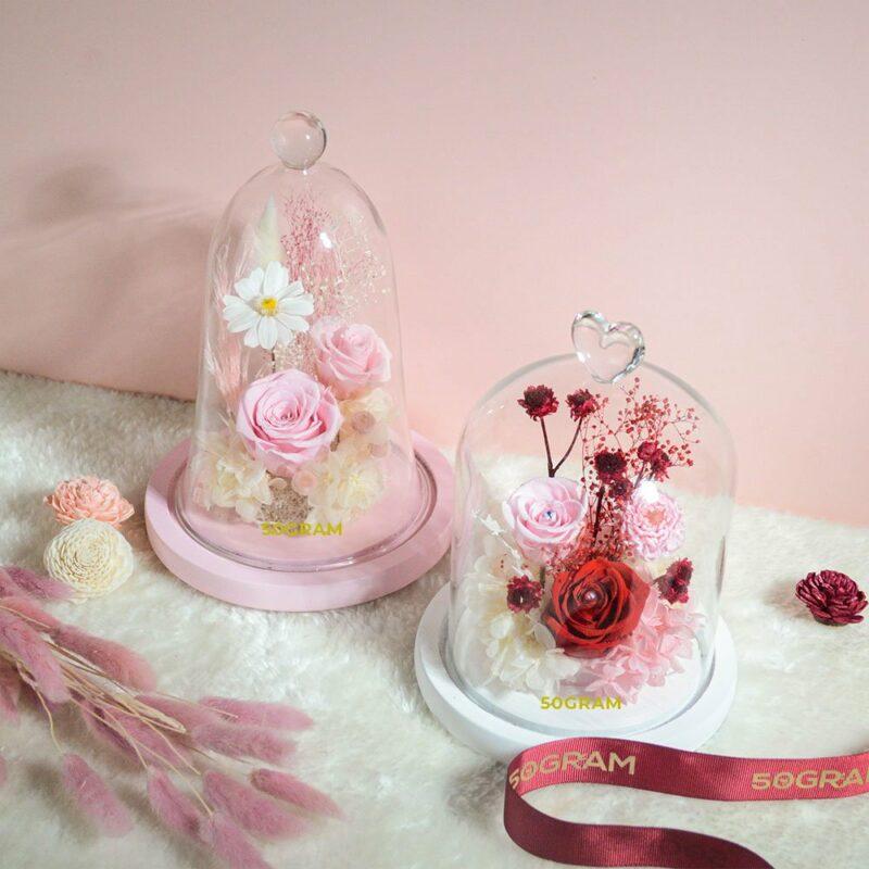 50Gram Preserved Flower Glass Jar Valentines 2