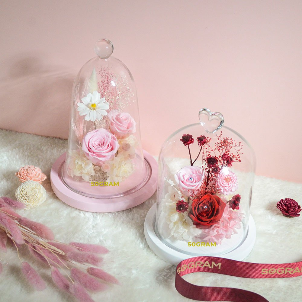 50Gram Preserved Flower Glass Jar Valentines 2