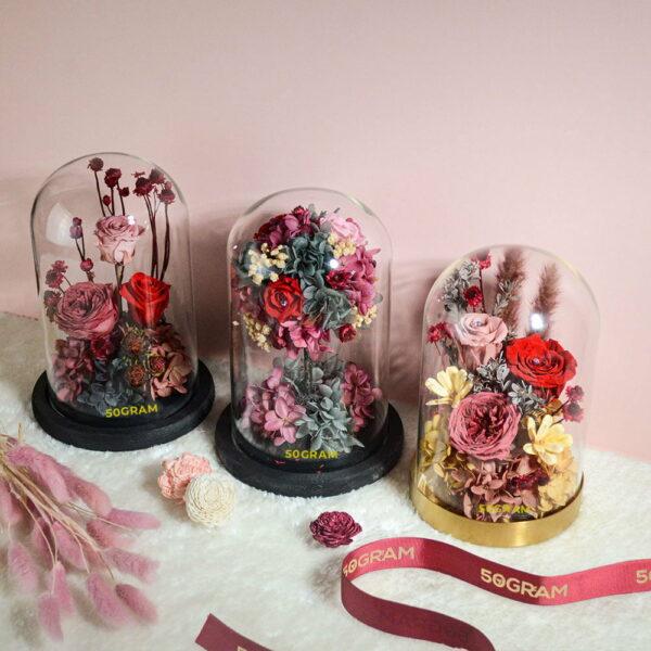 50Gram Preserved Flower Glass Jar Valentines