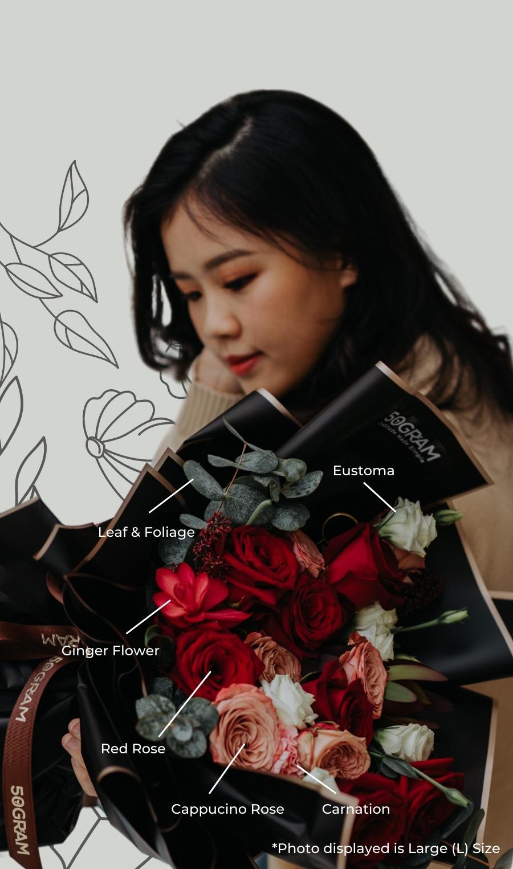 Infinite Love Valentines Bouquet Description 5