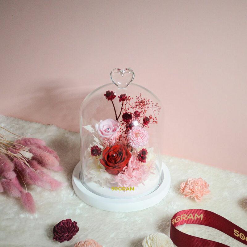 Love-Romance-Preserved-FLower-Glass-Jar