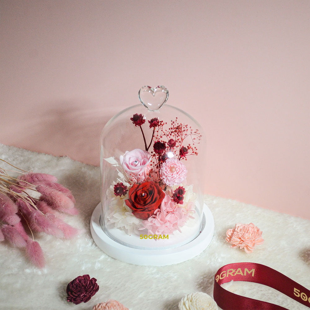 Love-Romance-Preserved-FLower-Glass-Jar