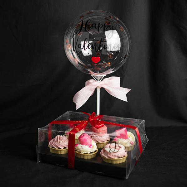 Pink Kisses Cupcake Gift Set (1)