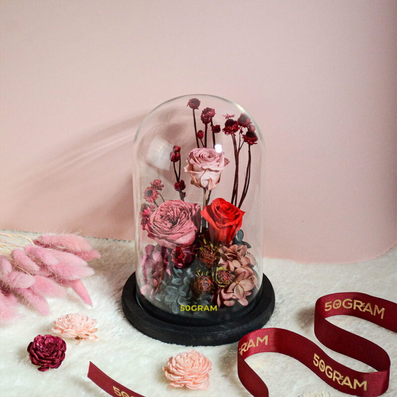 Rustic-Preserved-Flower-Glass-Jar