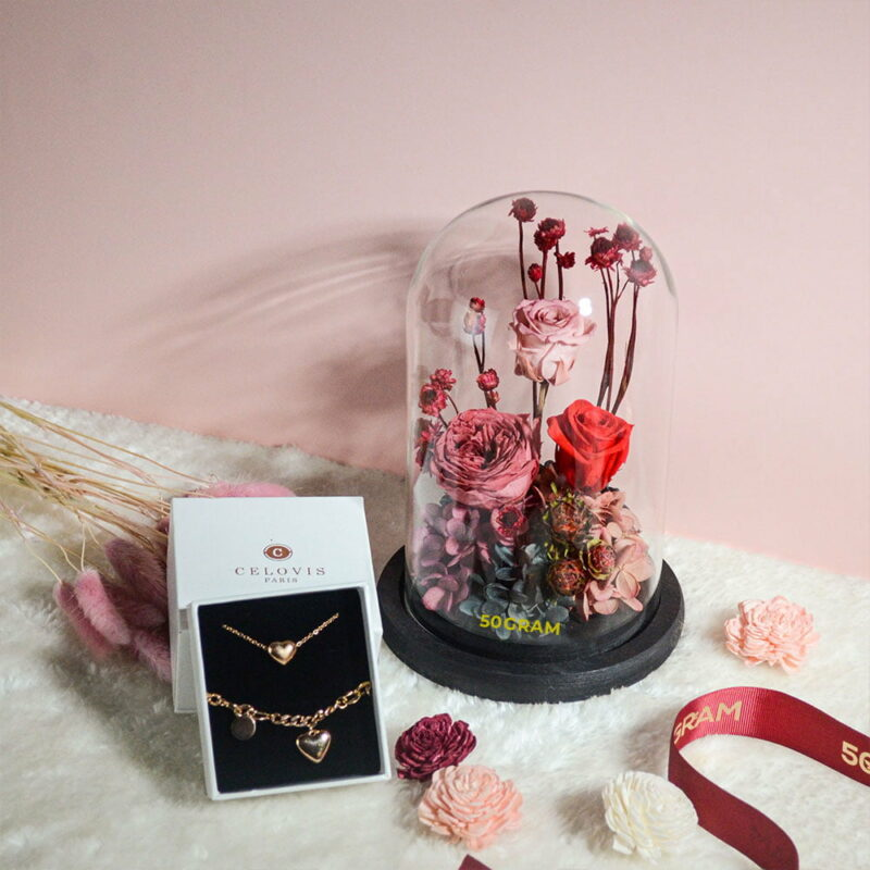 Rustic-Preserved-Flower-Glass-Jar-Celovis