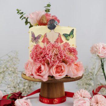 Flower Petal Lady Cake 1