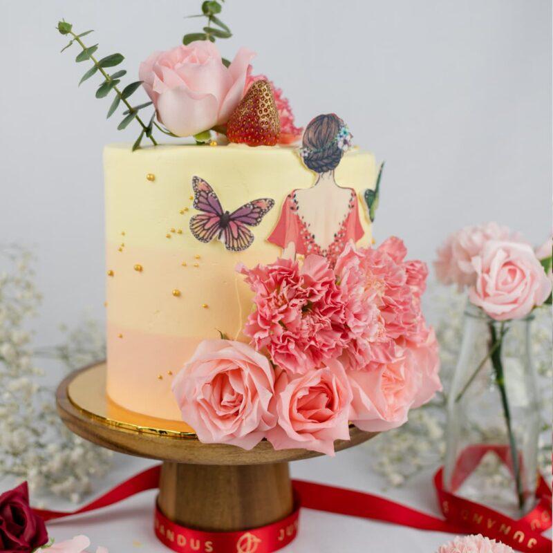 Flower Petal Lady Cake 2
