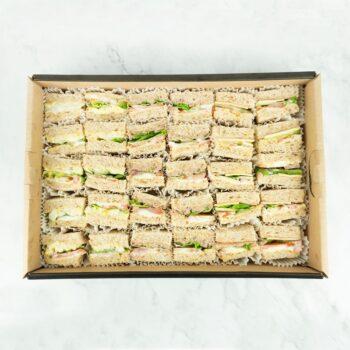 0000962 bbq chicken egg mayo tuna mayo sandwiches catering box