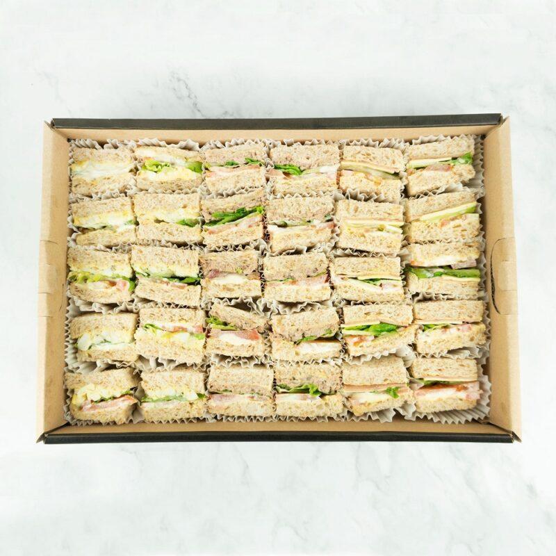 0000962 bbq chicken egg mayo tuna mayo sandwiches catering