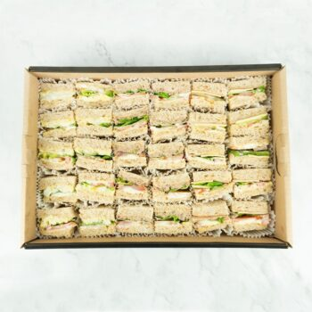 0000964 turkey cheese egg mayo sandwiches catering box 1