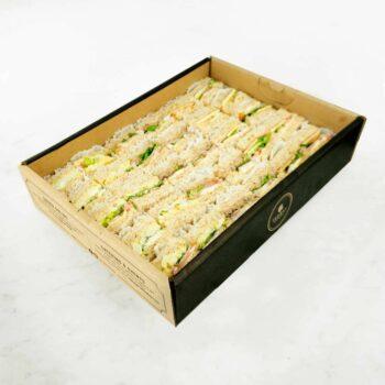 0000973 bbq chicken egg mayo tuna mayo sandwiches catering box 1
