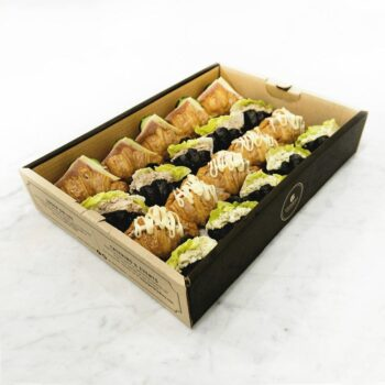 0002089 mini mixed butter charcoal croissant sandwich catering box